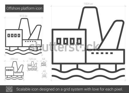 Offshore lijn icon vector geïsoleerd Stockfoto © RAStudio