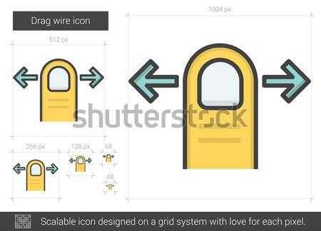 Drag left line icon. Stock photo © RAStudio