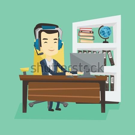 Business man feeling stress from work. Stock photo © RAStudio