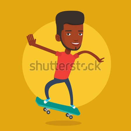 男 ライディング スケート スポーツマン スケート スケート ストックフォト © RAStudio