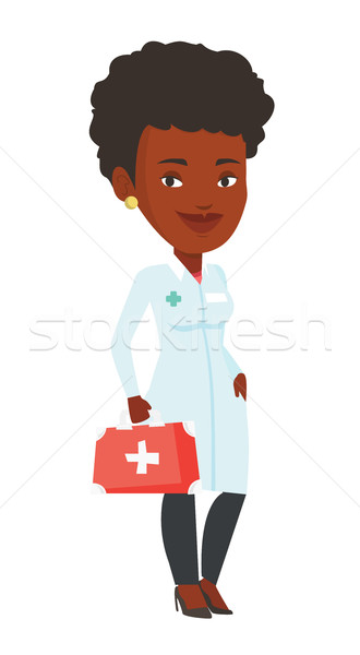 Médecin premiers soins boîte médicaux robe Photo stock © RAStudio