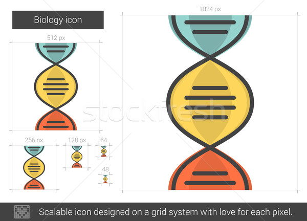 Biologia linha ícone vetor isolado branco Foto stock © RAStudio
