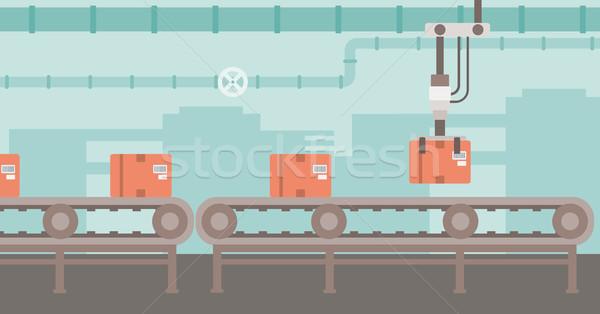Photo stock: Robotique · emballage · ceinture · produits · carton · cases
