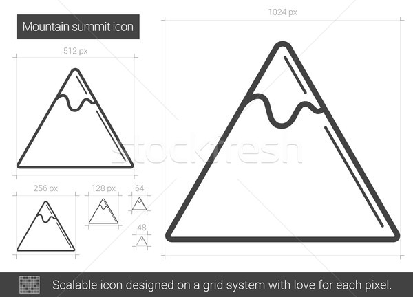 Mountain summit line icon. Stock photo © RAStudio
