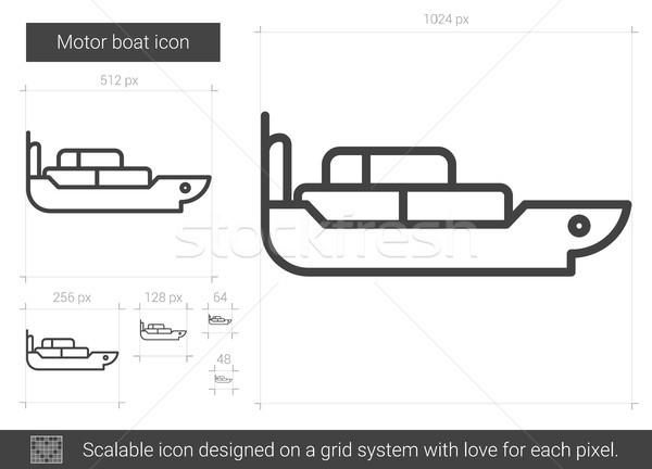Motor boat line icon. Stock photo © RAStudio