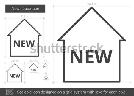 New house line icon. Stock photo © RAStudio