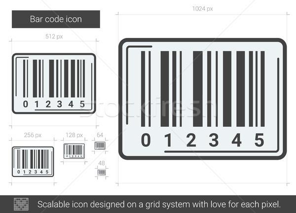 Código de barras linha ícone vetor isolado branco Foto stock © RAStudio