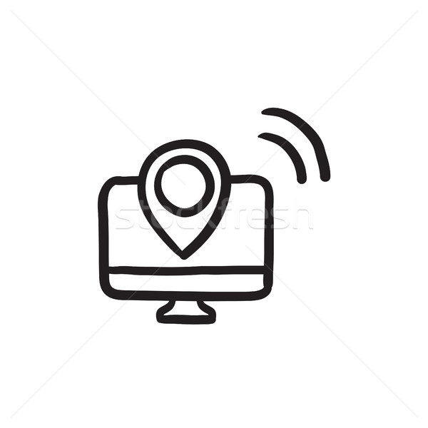 Navigation sketch icon. Stock photo © RAStudio
