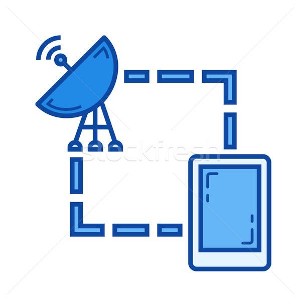 衛星 電話 行 アイコン ベクトル 孤立した ストックフォト © RAStudio