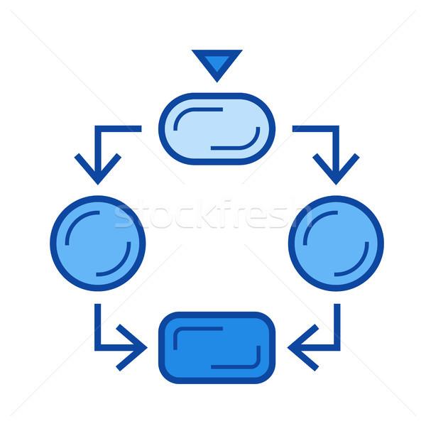Flow diagram line icon. Stock photo © RAStudio