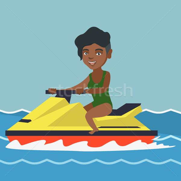 женщину верховая езда воды морем Летние каникулы Сток-фото © RAStudio