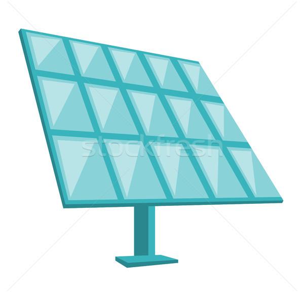 Solar panel vector cartoon illustration. Stock photo © RAStudio
