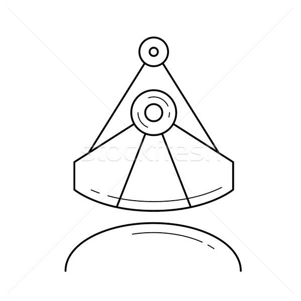 промышленных ковш вектора линия икона изолированный Сток-фото © RAStudio