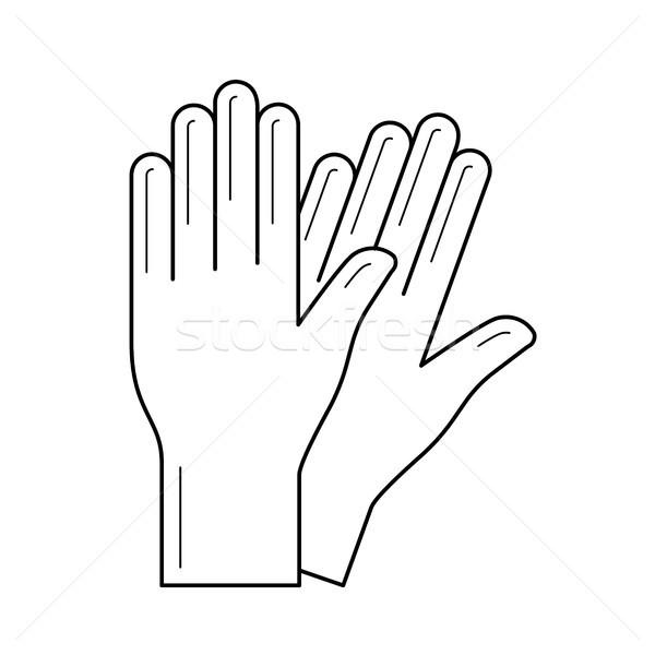Protective gloves vector line icon. Stock photo © RAStudio