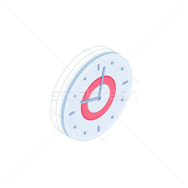 Clock vector isometric icon Stock photo © RAStudio