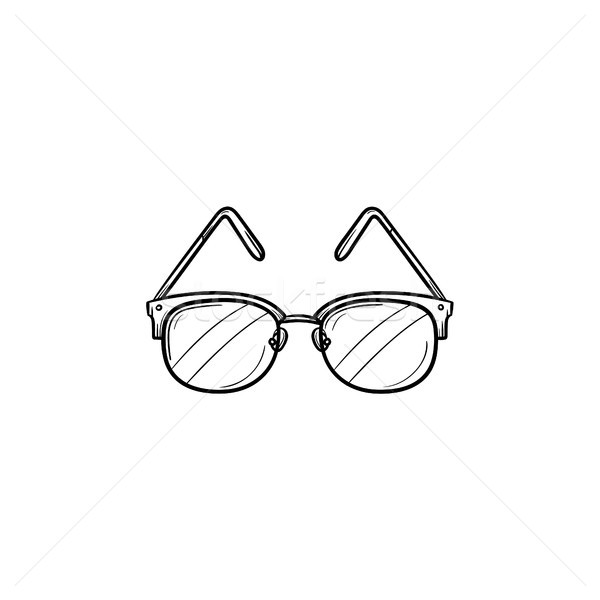 Szemüveg kézzel rajzolt skicc firka ikon szemüveg Stock fotó © RAStudio