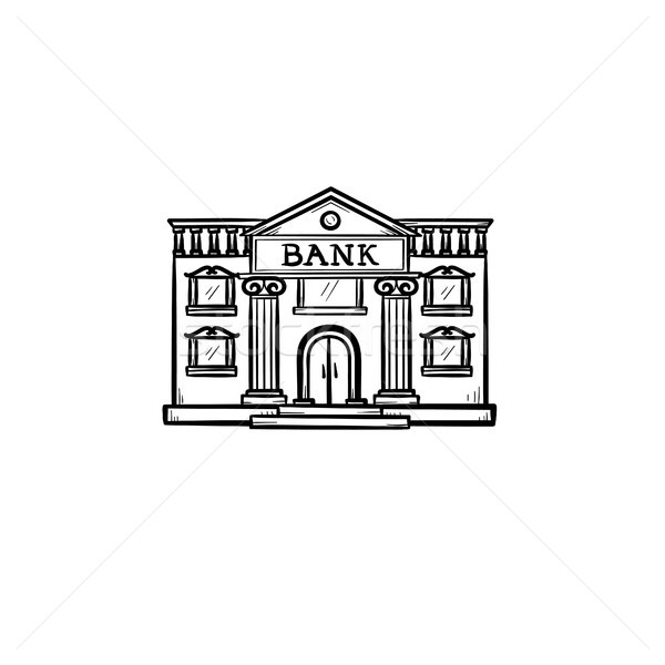 Bank hand drawn outline doodle icon. Stock photo © RAStudio