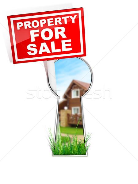 Imzalamak özellik satış gayrimenkul ev ev Stok fotoğraf © RAStudio