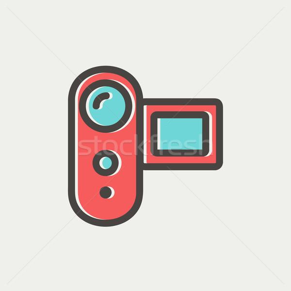 Digital Video Camera thin line icon Stock photo © RAStudio