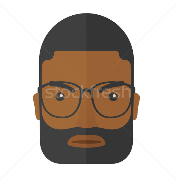 Face of angry black guy. Stock photo © RAStudio