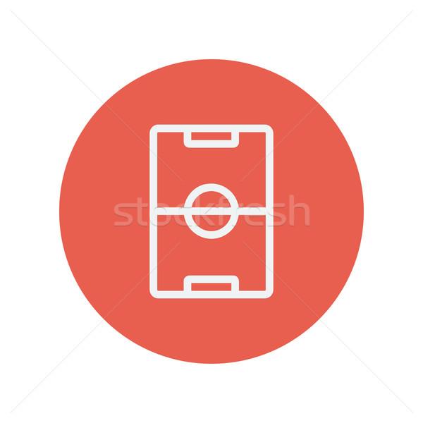 Terrain de football léger ligne icône web mobiles Photo stock © RAStudio