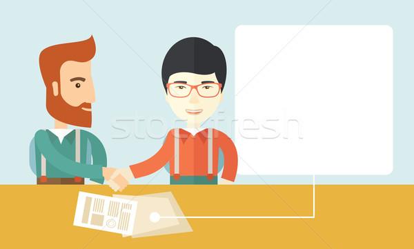 Meeting of two businessmen. Stock photo © RAStudio