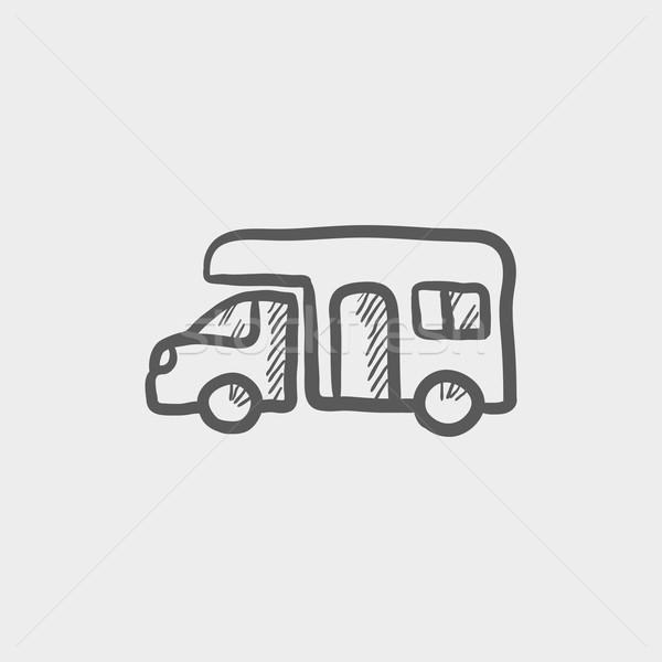 Camper van sketch icon Stock photo © RAStudio