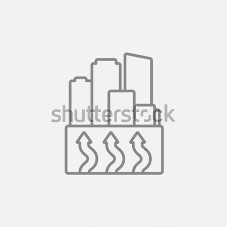 Gráfico de barras hoja icono tiza dibujado a mano Foto stock © RAStudio