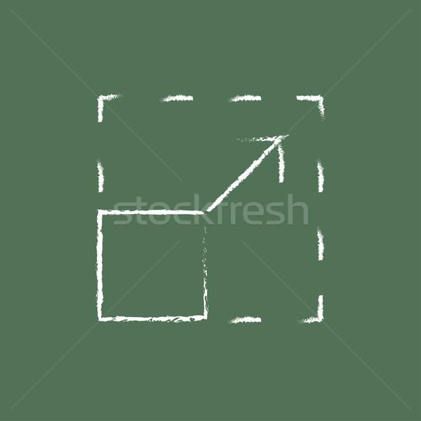 Scalability icon drawn in chalk. Stock photo © RAStudio