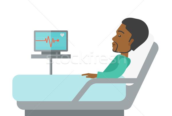 Patient lying in bed. Stock photo © RAStudio