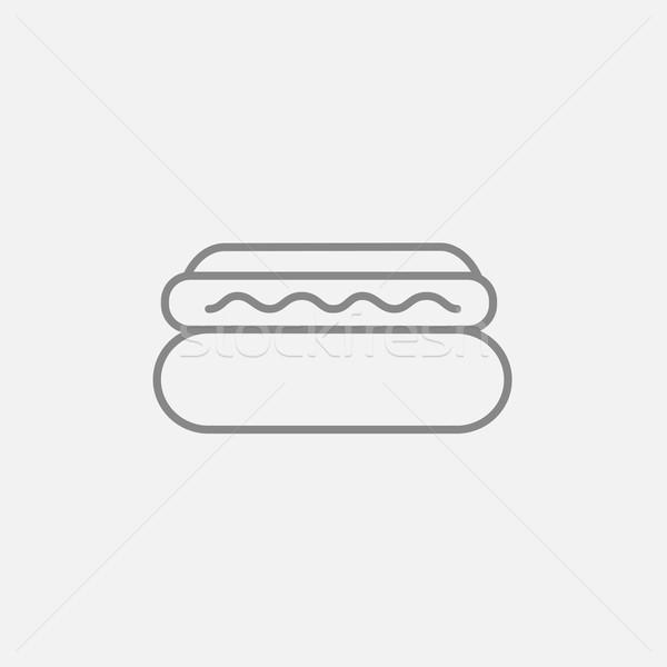 Hotdog line icon. Stock photo © RAStudio