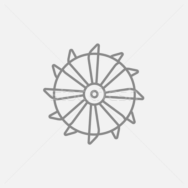 барабан уголь машина линия икона Сток-фото © RAStudio