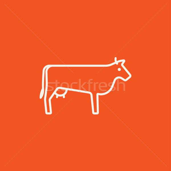 Cow line icon. Stock photo © RAStudio