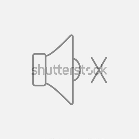 Mute speaker line icon. Stock photo © RAStudio