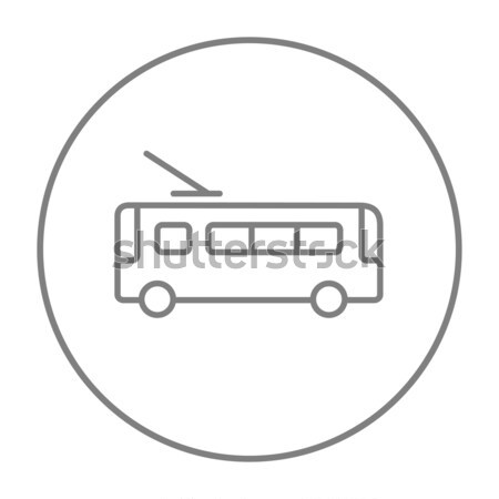 Trolleybus line icon. Stock photo © RAStudio