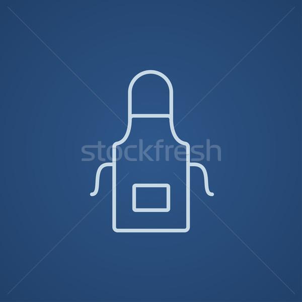 Cozinha avental linha ícone teia móvel Foto stock © RAStudio