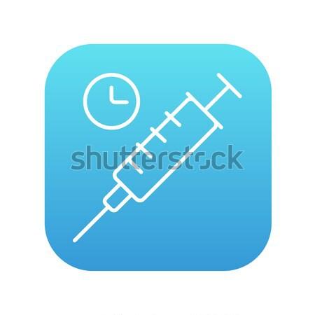 Syringe line icon. Stock photo © RAStudio