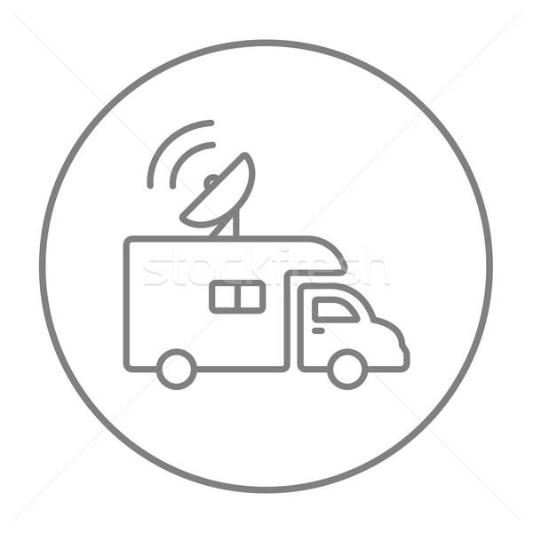 Yayın kamyonet hat ikon web hareketli Stok fotoğraf © RAStudio