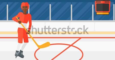 хоккей стадион вектора дизайна иллюстрация горизонтальный Сток-фото © RAStudio