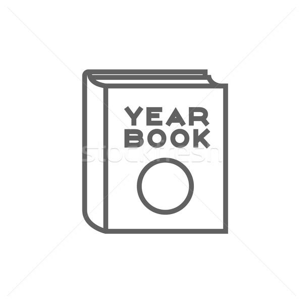 évkönyv vonal ikon sarkok háló mobil Stock fotó © RAStudio