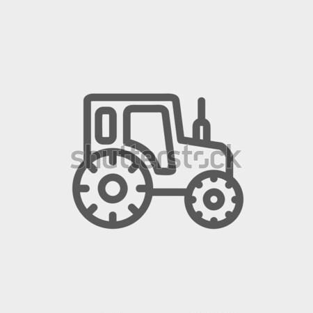 трактора линия икона уголки веб мобильных Сток-фото © RAStudio