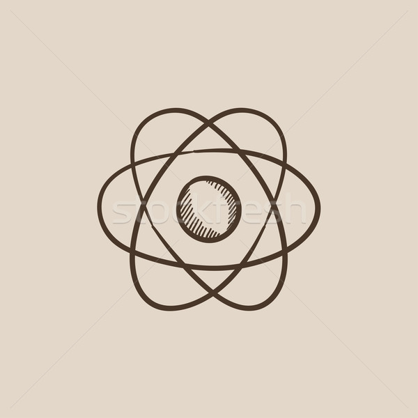 Atom sketch icon. Stock photo © RAStudio