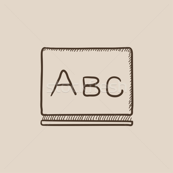 Letters abc on blackboard sketch icon. Stock photo © RAStudio