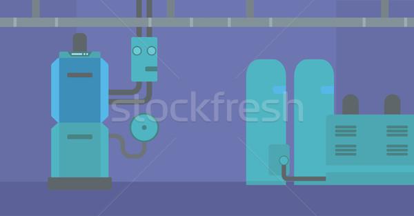 Background of domestic household boiler room. Stock photo © RAStudio