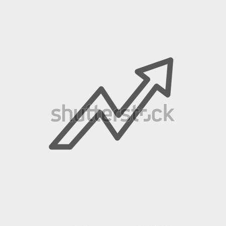 Arrow upward line icon. Stock photo © RAStudio