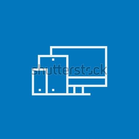 Responsive web design line icon. Stock photo © RAStudio