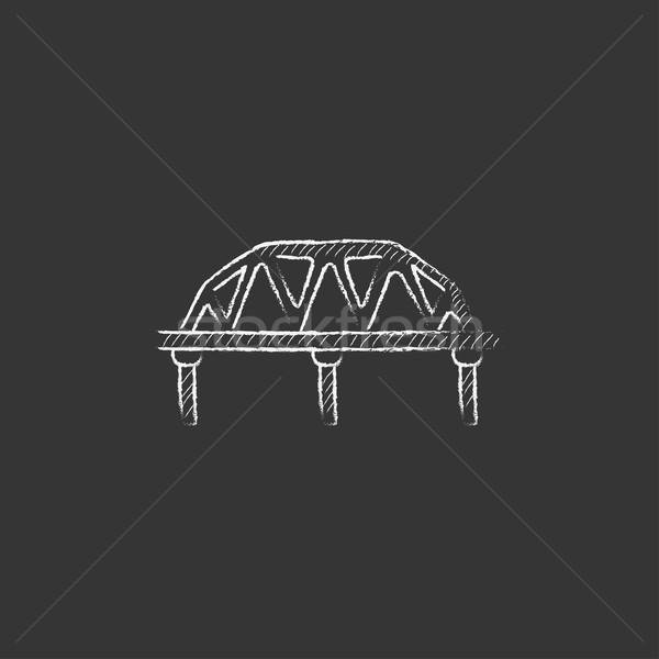Rail manera puente tiza icono Foto stock © RAStudio