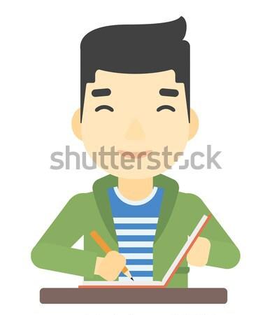 Man using three D pen. Stock photo © RAStudio