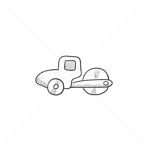 Road roller sketch icon. Stock photo © RAStudio