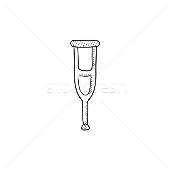 松葉杖 スケッチ アイコン ベクトル 孤立した 手描き ストックフォト © RAStudio
